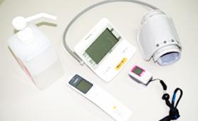 来苑後健康チェック(体温・血圧・脈拍)
